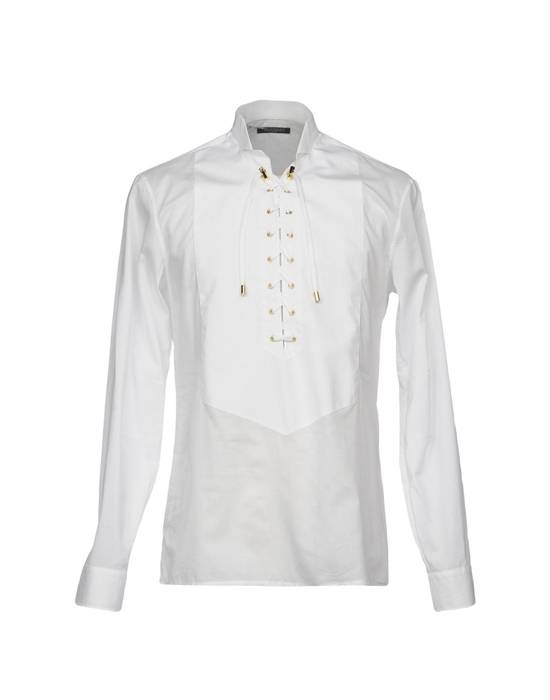 Balmain Size 39 - White Lace-Up Cotton Shirt - SS17 - $1200 Size US M / EU 48-50 / 2 - 8