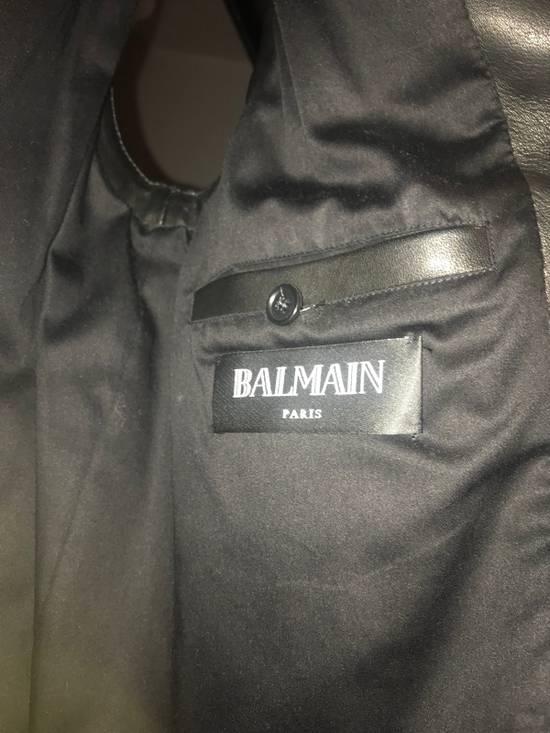 Balmain Leather Sleeveless Biker Jacket Size US M / EU 48-50 / 2 - 5