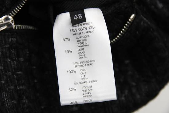 Givenchy $8k AW13 Givenchy Black Tweed & Leather Biker Jacket Size 48 Size US M / EU 48-50 / 2 - 12