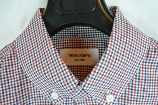 Thom Browne RED BLUE PLAID SHIRT NEW 4 Size US XL / EU 56 / 4 - 5