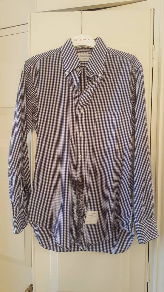 Thom Browne Classic Blue Checked Oxford shirt Size 1 Size US S / EU 44-46 / 1