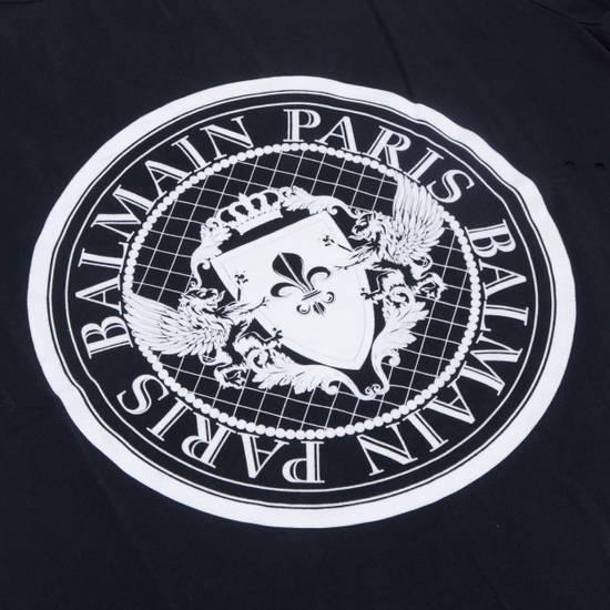 Balmain SS18 Black Cotton Balmain Velvet Logo Print Tshirt Size US S / EU 44-46 / 1 - 2