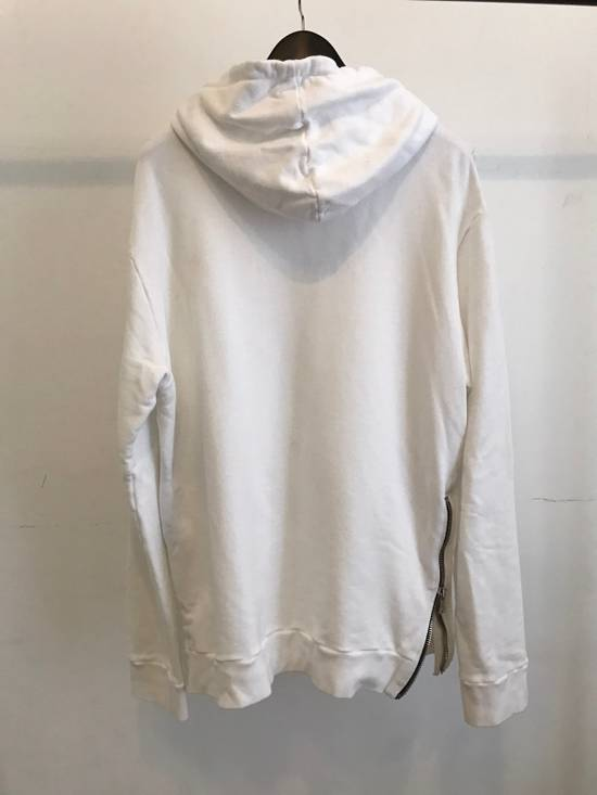 Balmain WHITE COTTON ZIP HOODY Size US XL / EU 56 / 4 - 1