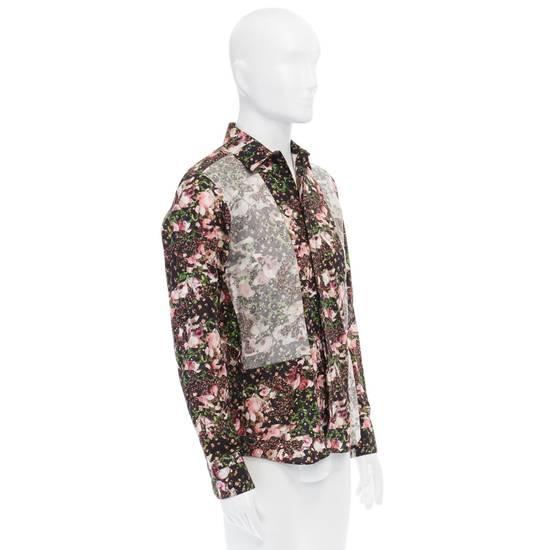 Givenchy GIVENCHY Pre14 reversed panel rose floral digital print cotton shirt US40 FR50 Size US M / EU 48-50 / 2 - 4
