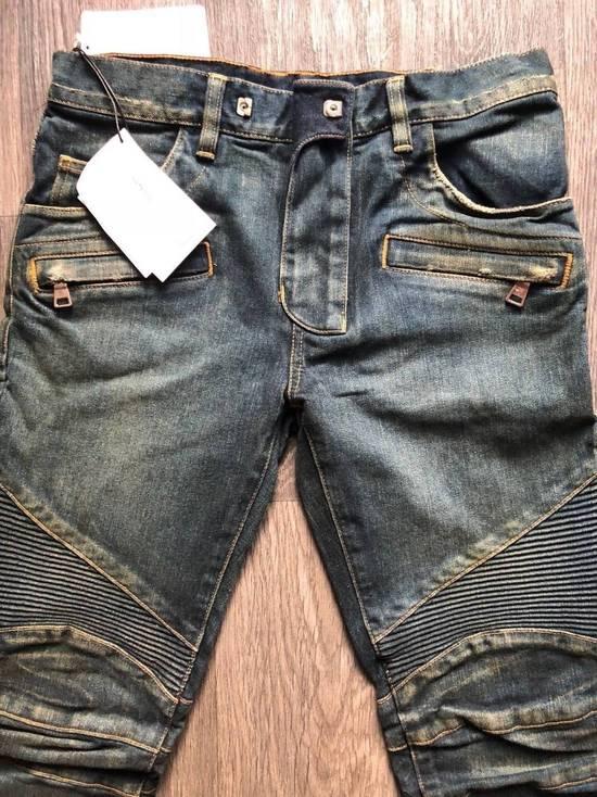 Balmain Balmain Authentic $1050 Blue Denim Biker Jeans Size 28 Slim Fit Brand New Size US 28 / EU 44 - 2