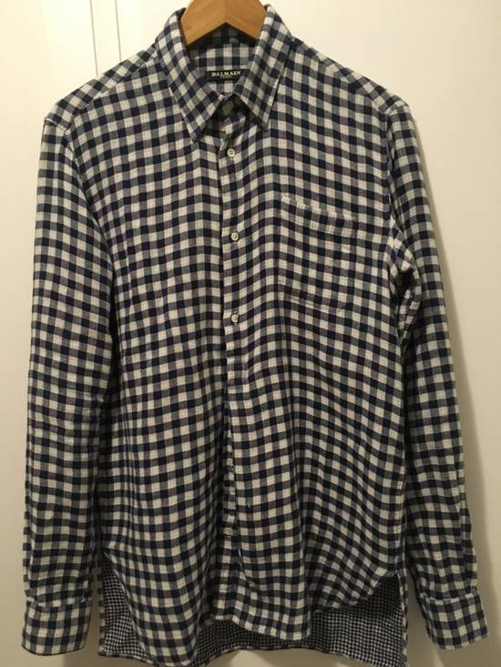 Balmain AW11 Blue Gingham Shirt Size US S / EU 44-46 / 1
