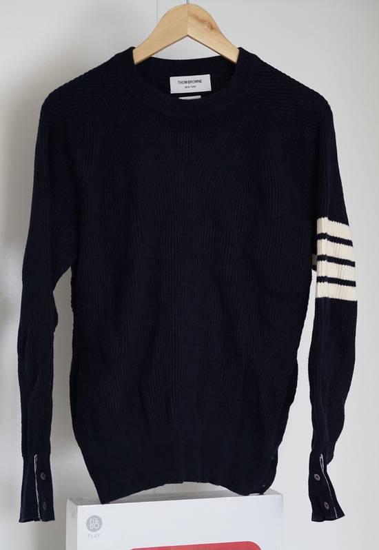 Thom Browne Blue 4-striped Knitted Sweater Size US M / EU 48-50 / 2