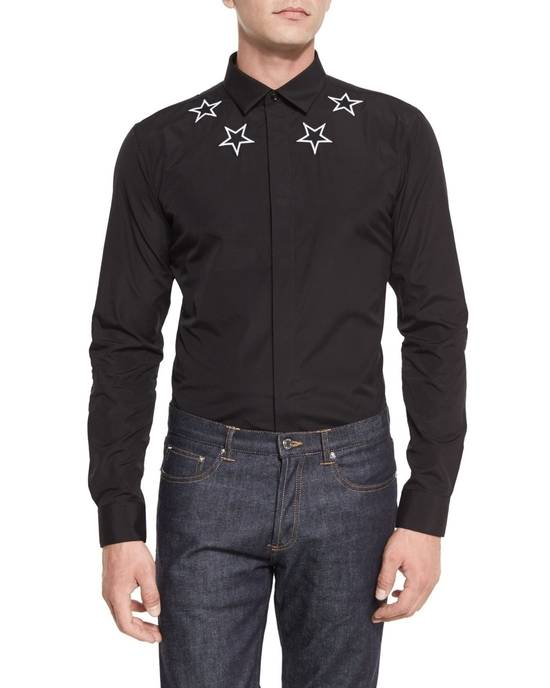 Givenchy Black and white embroidered stars shirt Size US S / EU 44-46 / 1 - 5