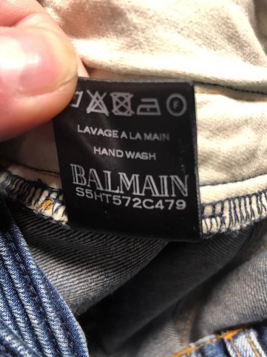 Balmain Balmain Navy Distressed Biker Jeans Size US 34 / EU 50 - 2
