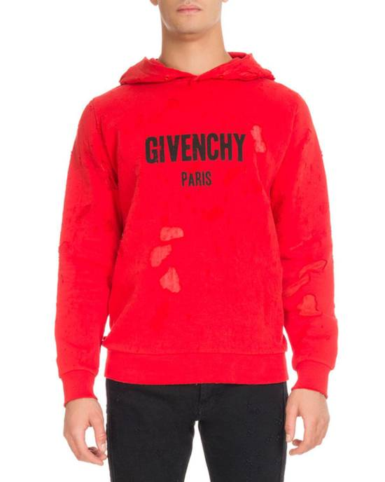 Givenchy Red Destroyed Logo Hoodie Size US XL / EU 56 / 4 - 2