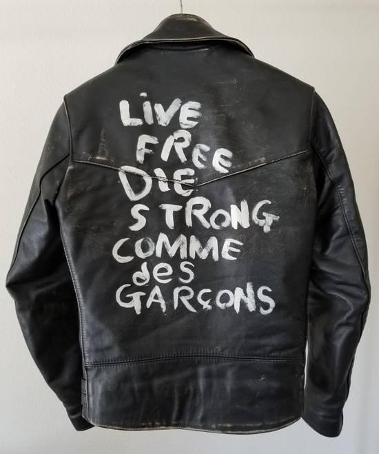 "Comme des Garcons ""Live Free Die Strong"" Leather jacket Size US XS / EU 42 / 0"