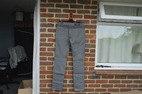 Balmain Grey Distressed Biker Jeans Size US 27 - 2