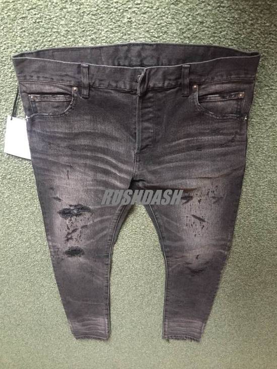 Balmain Black Distressed Faded Skinny Jeans(Made in Japan) Very Rare! Size US 30 / EU 46