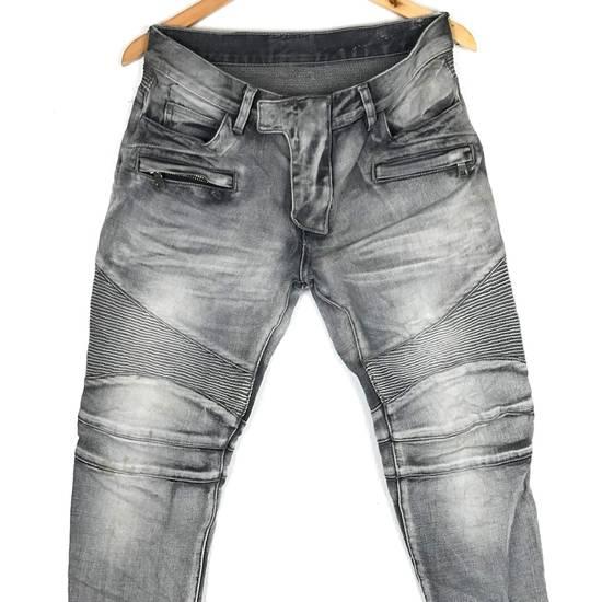 Balmain Rare! Distressed Balmain Biker Denim Jean Trouser Skinny Luxury Designer Size US 32 / EU 48 - 2