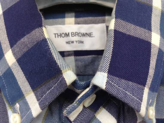 Thom Browne THOM BROWNE Blue Plaid Buttondown Size US S / EU 44-46 / 1 - 2