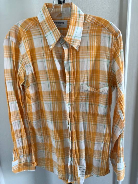 Thom Browne LAST DAY: Yellow Checked Shirt Size US S / EU 44-46 / 1