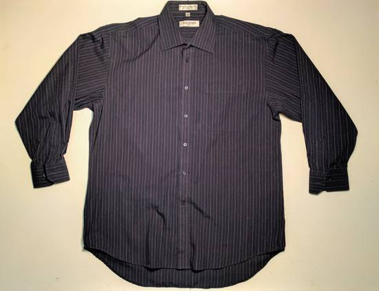 Balmain dark navy blue pin-stripe button up Size US L / EU 52-54 / 3