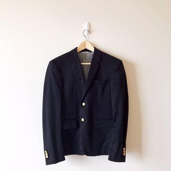 Thom Browne THOM BROWNE CLASSIC CASHMERE NAVY BLAZER JACKET Size 40S