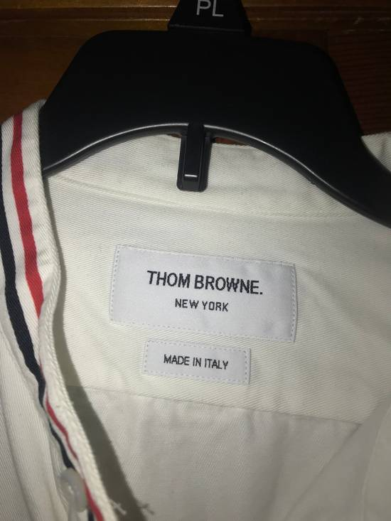Thom Browne Thom Browne Collarless White Oxford Button Up large Size US L / EU 52-54 / 3 - 2