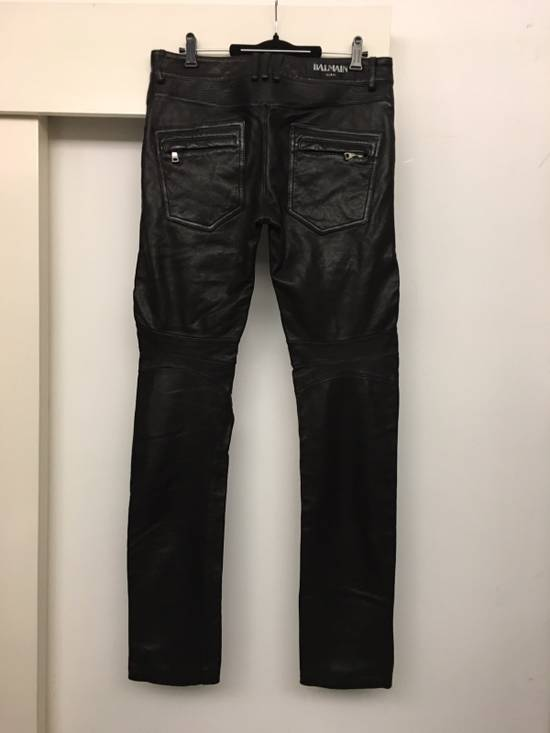 Balmain Brand New Leather Biker Jeans Size US 32 / EU 48 - 3