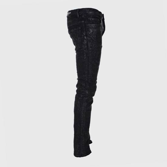 Balmain Midnight Blue Waxed Embroidered Jeans Size US 27 - 14