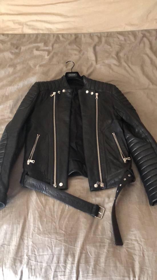 Balmain Lamb Skin Leather Biker Jacket Size US M / EU 48-50 / 2