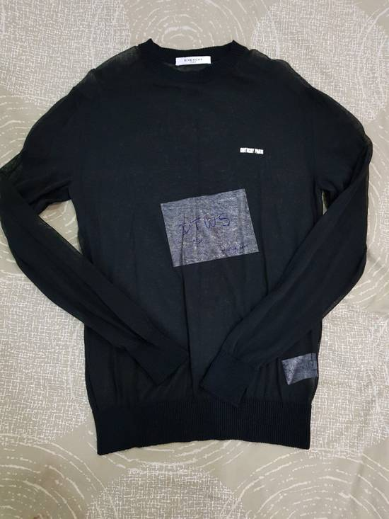 Givenchy Black See-thru Sweater Size US S / EU 44-46 / 1
