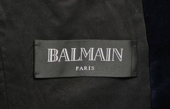 Balmain Balmain Blue Velvet Blazer Size 46R - 4