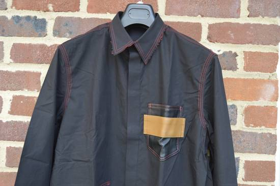 Givenchy Black Leather Pocket Shirt Size US M / EU 48-50 / 2 - 4