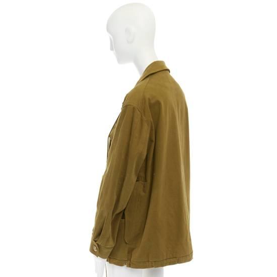 Balmain BALMAIN Pre14 army green stretch military zip up oversized jacket FR40 US8 UK12 Size US M / EU 48-50 / 2 - 7