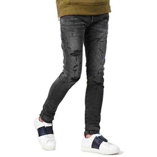 Balmain Black Distressed Faded Skinny Jeans(Made in Japan) Very Rare! Size US 30 / EU 46 - 3