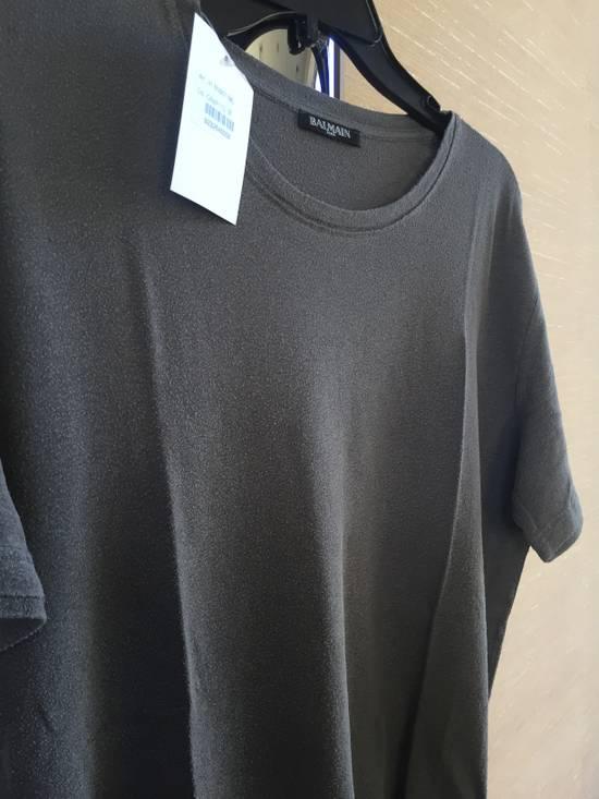 Balmain Grey Silk Tee Size US M / EU 48-50 / 2 - 7