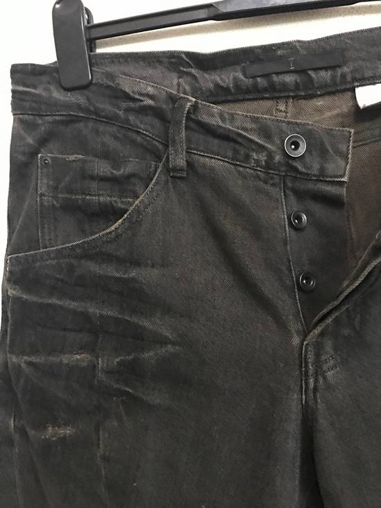 Julius Japanese Designer JULIUS7 Made in Japan Distressed Curved in Legs Denim Pant Size US 33 - 3
