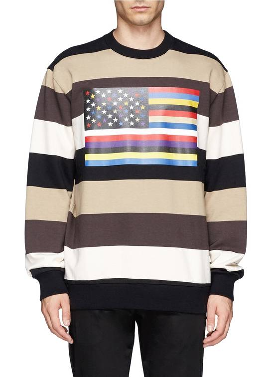 Givenchy $795 Givenchy American Flag Stripe Rottweiler Oversized Sweater size XXS (L) Size US L / EU 52-54 / 3 - 4