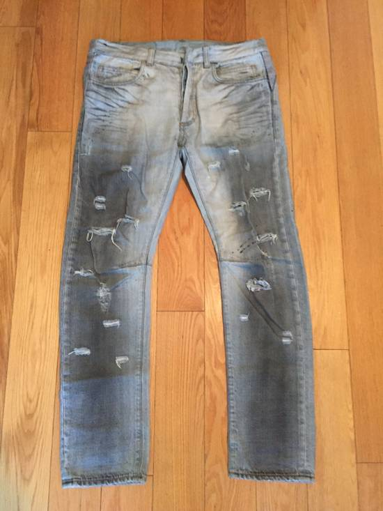 Balmain Balmain Sample Runway Distressed Denim Blue Dark Wash Size US 30 / EU 46 - 1