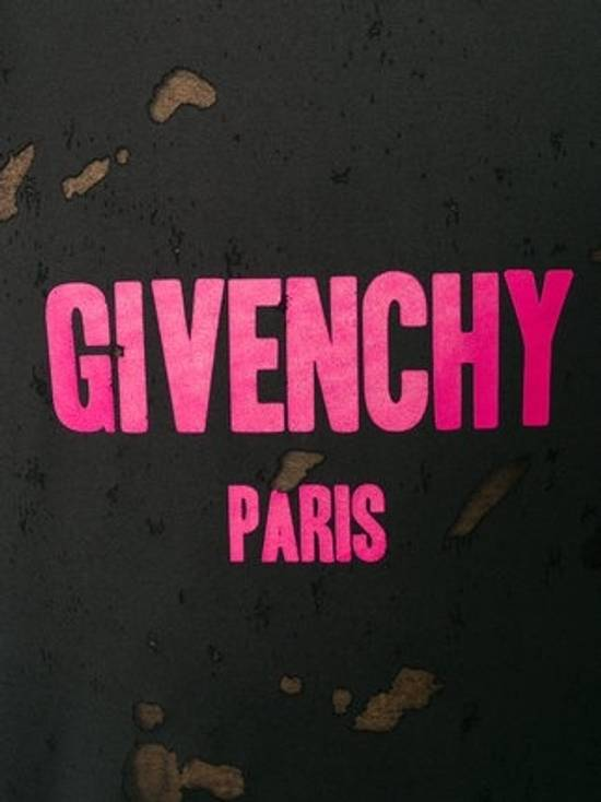 Givenchy Black Distressed Logo T-Shirt Size US L / EU 52-54 / 3 - 1