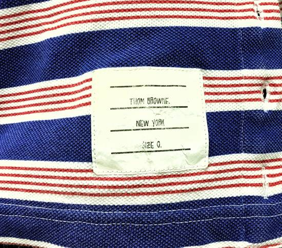 Thom Browne THOM BROWNE Red/White/Blue Striped Polo Size US XS / EU 42 / 0 - 2