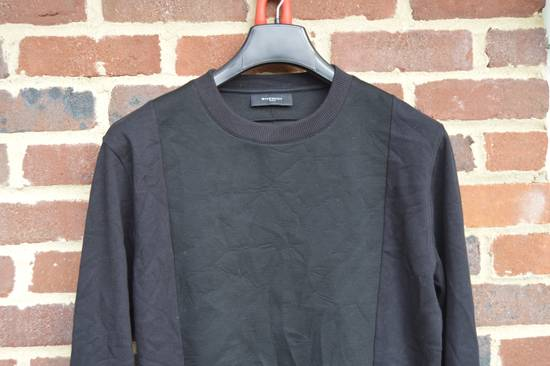 Givenchy Black Bonded Cotton Detail Sweater Size US M / EU 48-50 / 2 - 1