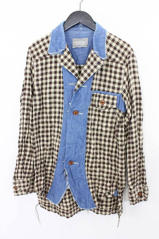 Takahiromiyashita The Soloist. Brown & Blue Cowboy shirt Size US S / EU 44-46 / 1