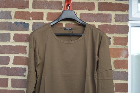 Balmain Brown Distressed Long Sleeve T-shirt Size US M / EU 48-50 / 2 - 1