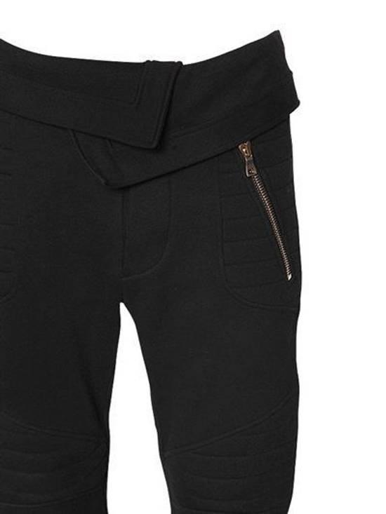 Balmain Balmain Cotton Jersey Biker Black Authentic $1040 Pants Size S New Size US 30 / EU 46 - 3
