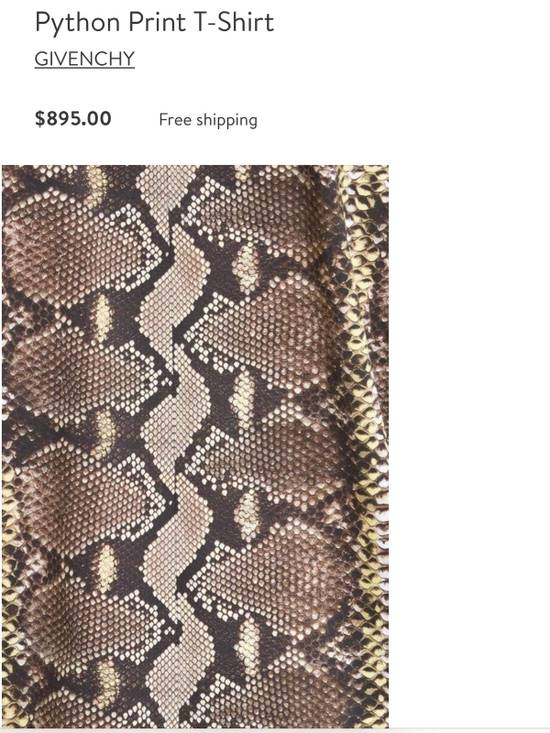 Givenchy Snakeskin Print Cotton T-Shirt Size US XL / EU 56 / 4 - 7