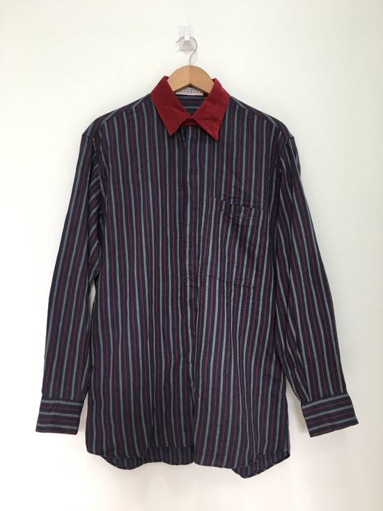 Givenchy Gentleman Givenchy Indigo Red Stripes Casual Shirt Made in Italy Size US M / EU 48-50 / 2 - 2