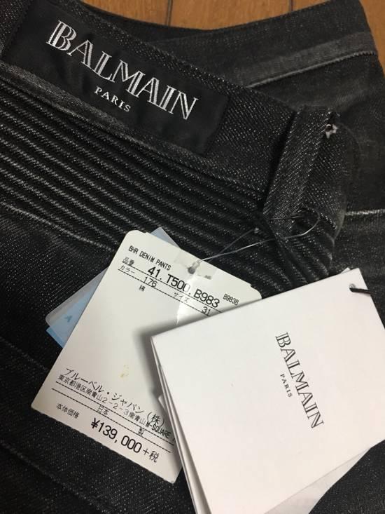 Balmain BNWT : Made In Japan Black Washed Biker Jeans W31 F17.5cm Size US 31 - 3