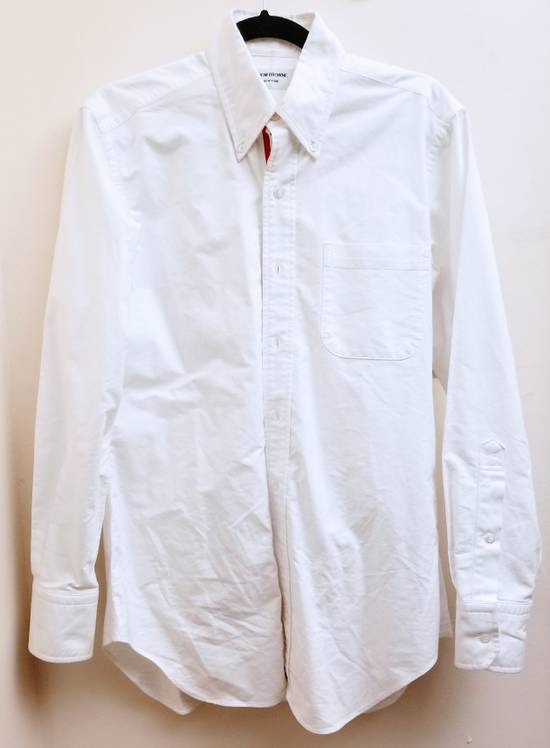 Thom Browne Classic Long Sleeve Button Down with Stripe Detail Size US M / EU 48-50 / 2 - 1
