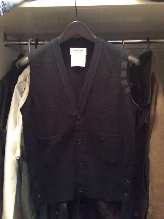 Thom Browne Black cashmere vest cardi 2 Size US M / EU 48-50 / 2