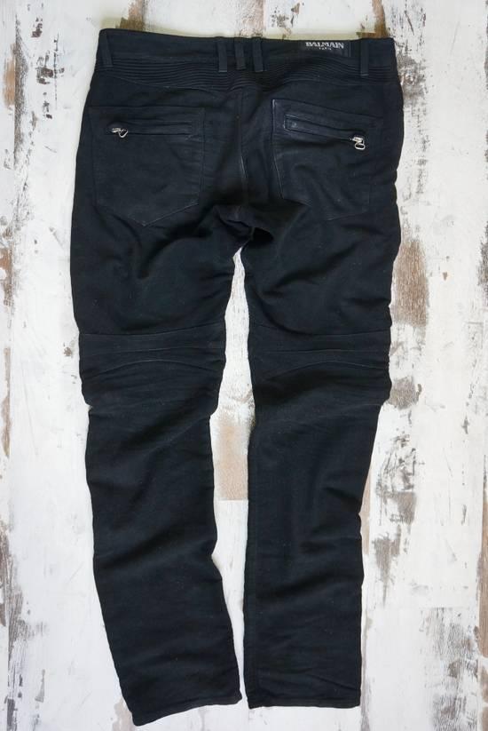 Balmain BALMAIN FW2009 Mens Black Coated Biker Denim Pants Sz 33 Decarnin Era Size US 33 - 6