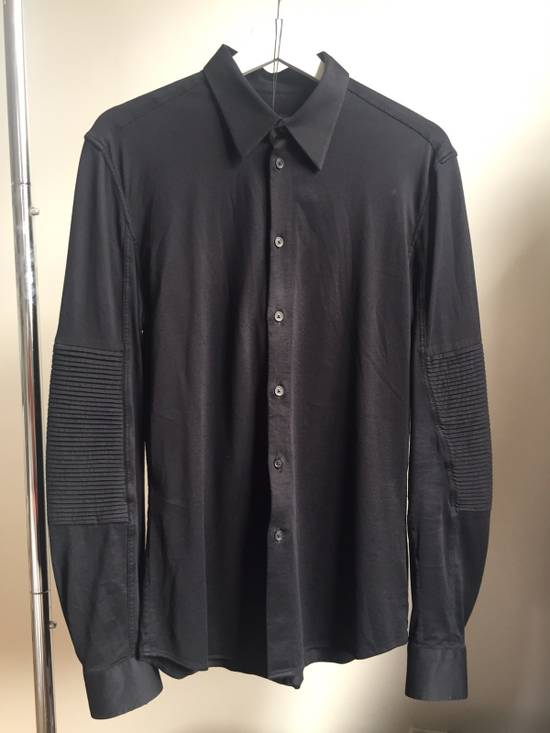 Givenchy Black Cotton Shirt with Sleeve Detail Size US S / EU 44-46 / 1