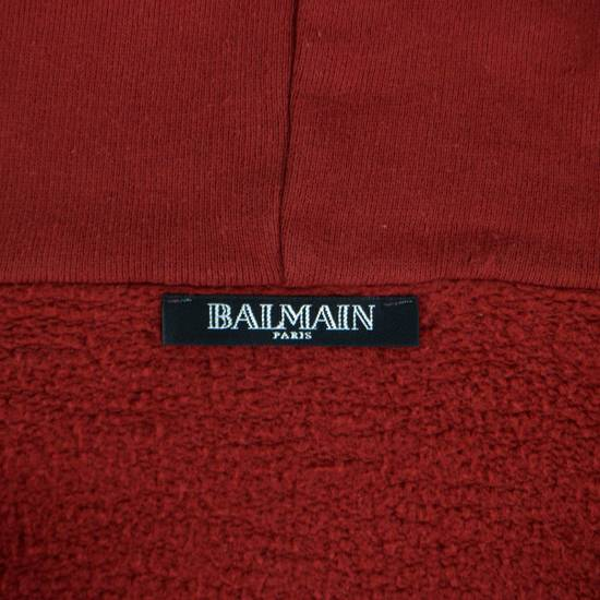 Balmain Red Cotton Hooded Zipper Sweatshirt Size L Size US L / EU 52-54 / 3 - 3
