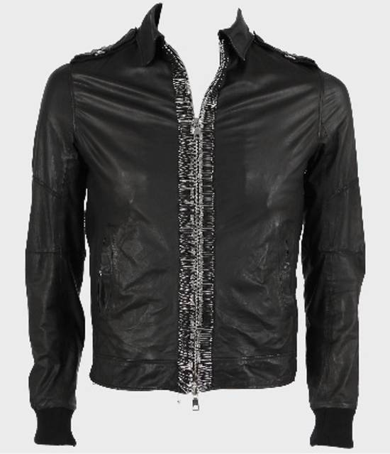 Balmain Safety Pin Leather Biker Jacke Size US M / EU 48-50 / 2 - 4